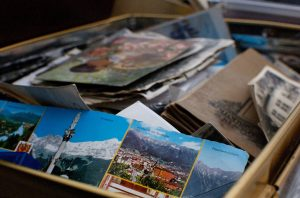 A box with old photos